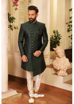 Carbon Readymade Heavy Embroidered Designer Sherwani For Men