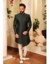 Carbon Readymade Heavy Embroidered Designer Sherwani For Men