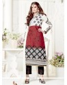 Sonorous Embroidered Work Black And White Georgette Designer Suit