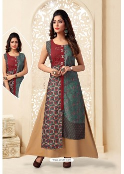Multi Colour Readymade Designer Party Wear Kurti