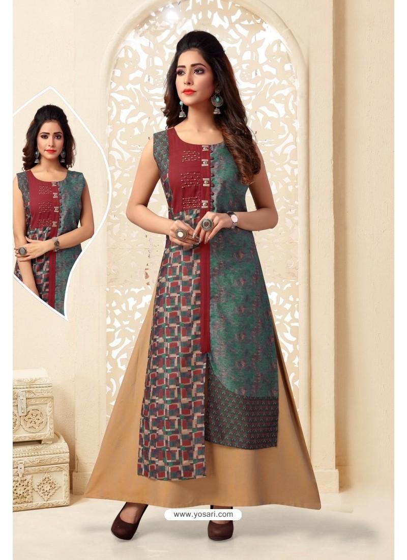 Multi Colour Readymade Designer Party Wear Kurti