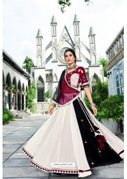 White Designer Heavy Embroidered Lehenga Choli