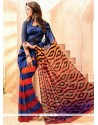 Prominent Print Work Casual Saree