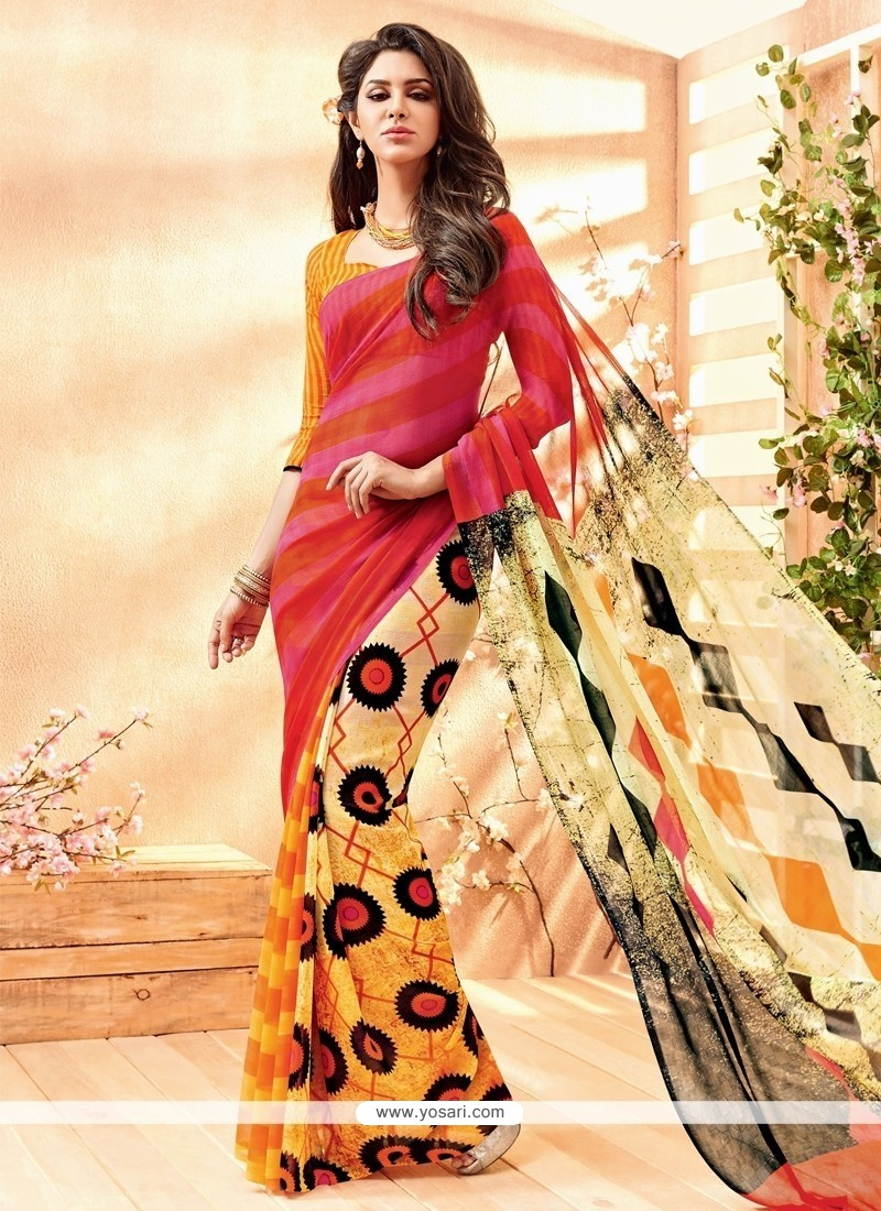 Exotic Multi Colour Casual Saree