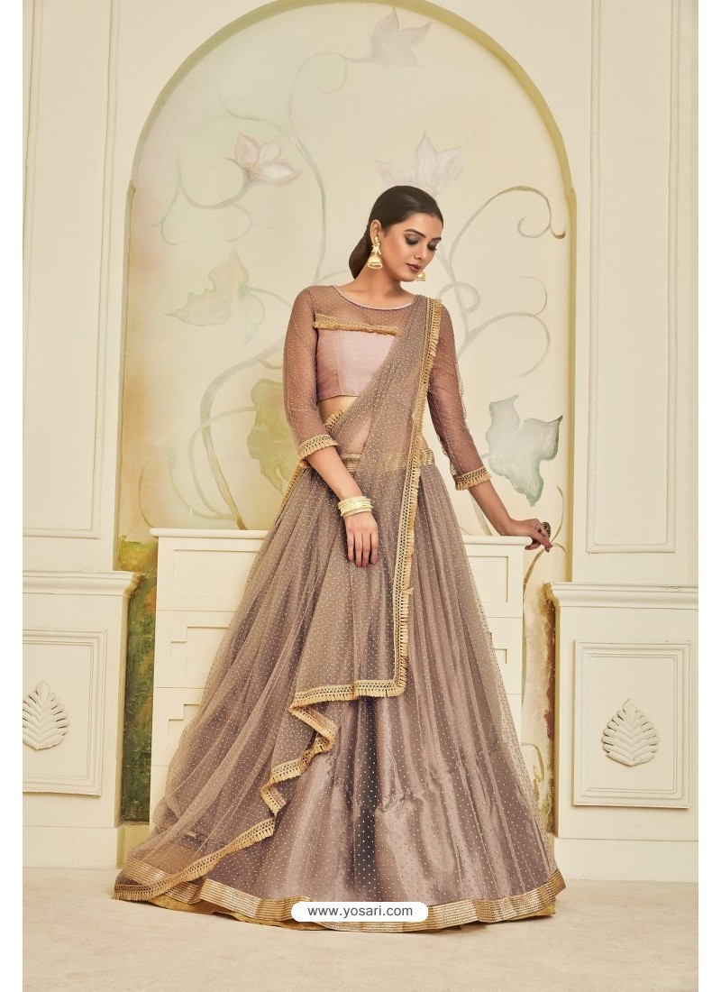 Dusty Pink Heavy Embroidered Party Wear Designer Lehenga Choli