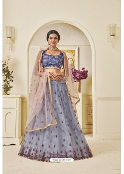 Pigeon Heavy Embroidered Party Wear Designer Lehenga Choli
