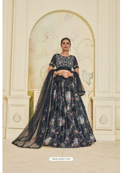 Carbon Heavy Embroidered Party Wear Designer Lehenga Choli