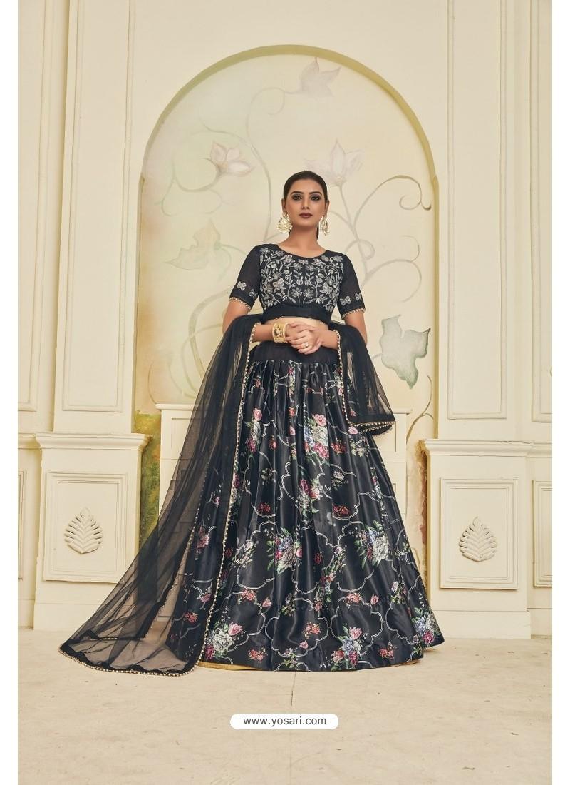 Carbon Heavy Embroidered Party Wear Designer Lehenga Choli