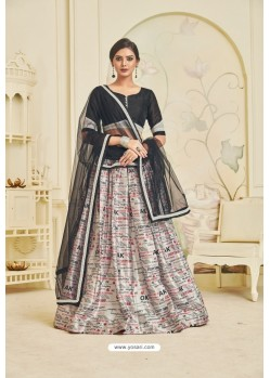 Off White Heavy Embroidered Party Wear Designer Lehenga Choli