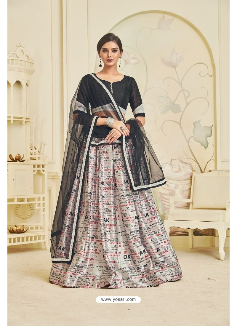 Off White Heavy Embroidered Party Wear Designer Lehenga Choli