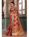Marvelous Multi Colour Designer Party Wear Art Silk Sari