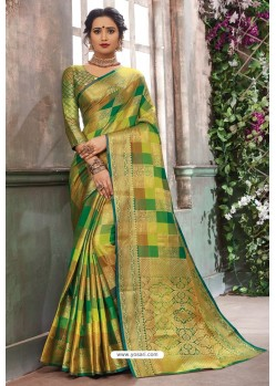 Multi Colour Designer Party Wear Art Silk Sari