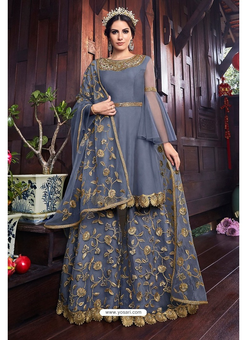 Pigeon Heavy Embroidered Gown Style Designer Anarkali Suit
