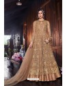 Gold Heavy Embroidered Gown Style Designer Anarkali Suit