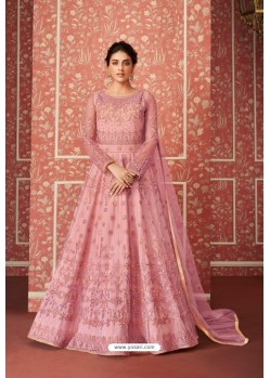 Light Pink Heavy Embroidered Gown Style Designer Anarkali Suit