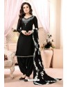 Black Embroidered Party Wear Punjabi Patiala Suits