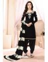 Ravishing Black Embroidered Party Wear Punjabi Patiala Suit