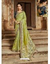 Green Latest Embroidered Designer Wedding Sari