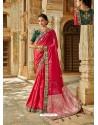 Dark Peach Latest Embroidered Designer Wedding Sari