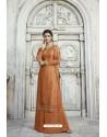 Rust Designer Party Wear Satin Georgette Palazzo Salwar Suit