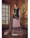Mauve Designer Party Wear Pure Cotton Palazzo Salwar Suit