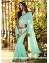 Sky Blue Georgette Party Wear Saree