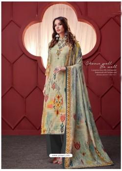 Multi Colour Designer Party Wear Pure Ikat Cotton Silk Palazzo Salwar Suit