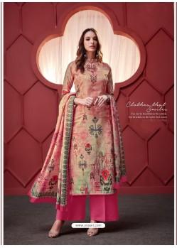 Hot Pink Designer Party Wear Pure Ikat Cotton Silk Palazzo Salwar Suit
