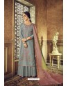 Aqua Grey Designer Party Wear Pure Viscose Upada Palazzo Salwar Suit