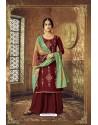 Maroon Designer Party Wear Pure Viscose Upada Palazzo Salwar Suit