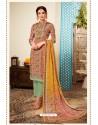 Multi Colour Designer Party Wear Pure Viscose Crepe Straight Salwar Suit