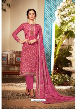 Rani Designer Party Wear Pure Viscose Crepe Straight Salwar Suit
