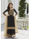 Black Designer Party Wear Real Georgette Palazzo Salwar Suit