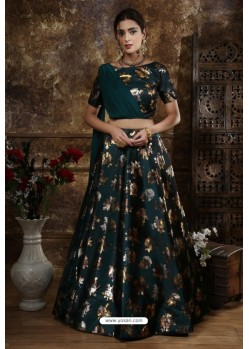 Dark Green Exclusive Party Wear Designer Readymade Lehenga Choli