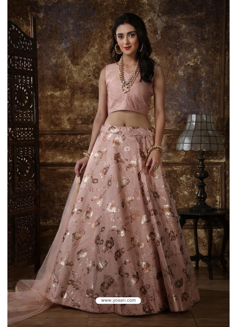 Baby Pink Exclusive Party Wear Designer Readymade Lehenga Choli