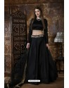Black Exclusive Party Wear Designer Readymade Lehenga Choli
