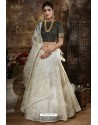 Off White Exclusive Party Wear Designer Readymade Lehenga Choli
