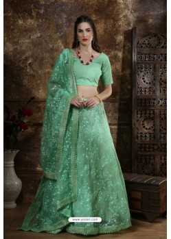 Sea Green Exclusive Party Wear Designer Readymade Lehenga Choli