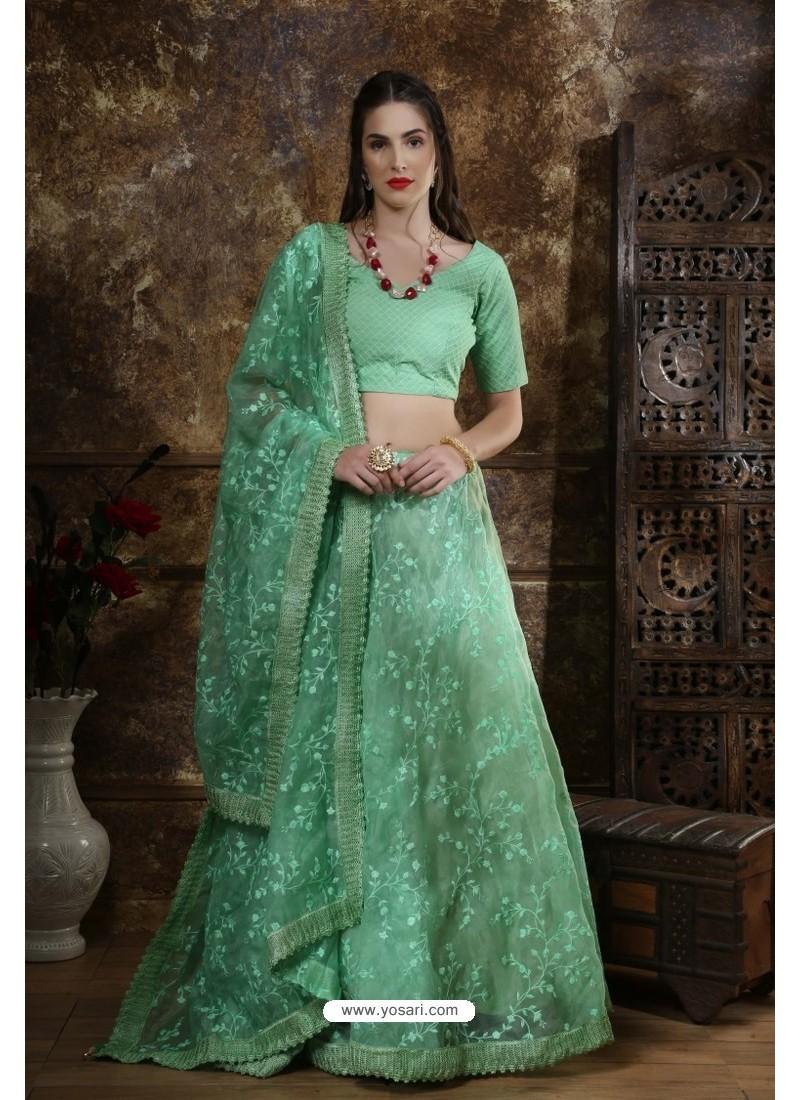 Sea Green Exclusive Party Wear Designer Readymade Lehenga Choli