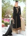 Black Designer Party Wear Georgette Palazzo Salwar Suit