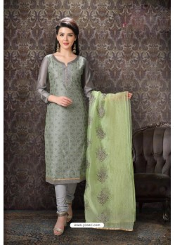 Grey Special Designer Embroidered Churidar Salwar Suit