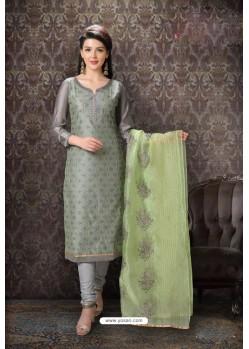 Grey Special Designer Embroidered Churidar Salwar Suit
