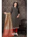 Black Special Designer Embroidered Churidar Salwar Suit