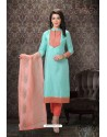 Sky Blue Special Designer Embroidered Palazzo Salwar Suit