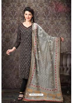 Carbon Special Designer Embroidered Churidar Salwar Suit