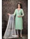 Sea Green Special Designer Embroidered Churidar Salwar Suit