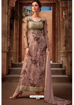 Old Rose Heavy Designer Party Wear Palazzo Salwar Suit