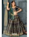 Multi Colour Heavy Embroidered Banarasi Silk Designer Lehenga Choli