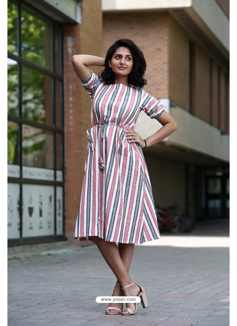 Multi Colour Designer Cotton Readymade Kurti