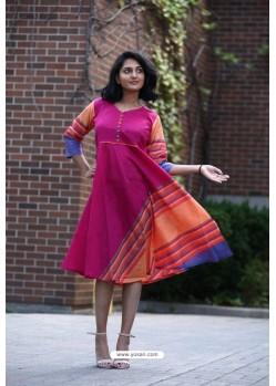 Rani Designer Khadi Cotton Readymade Kurti